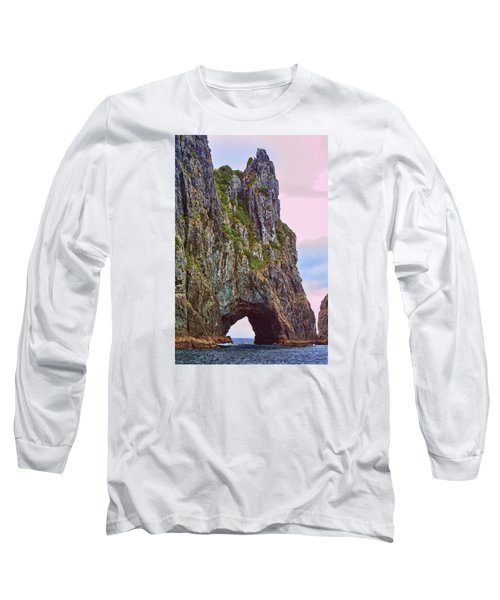 Coastal Rock Open Arch Long Sleeve T-Shirt by Linda Phelps