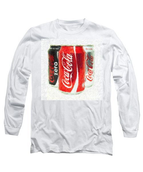 Coca Cola Art Impasto Long Sleeve T-Shirt by Antony McAulay