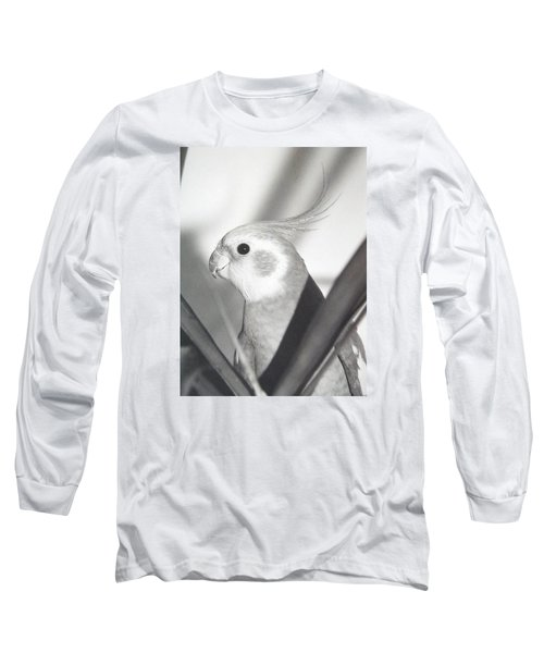 Long Sleeve T-Shirt featuring the photograph Cockatiel In Palm by Belinda Lee