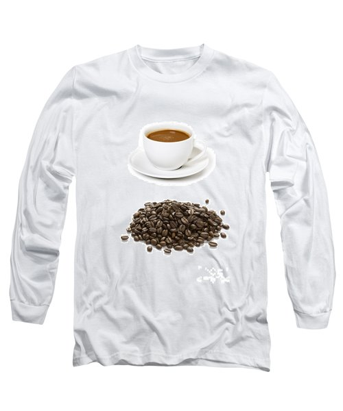 Long Sleeve T-Shirt featuring the photograph Coffee Cups And Coffee Beans by Lee Avison