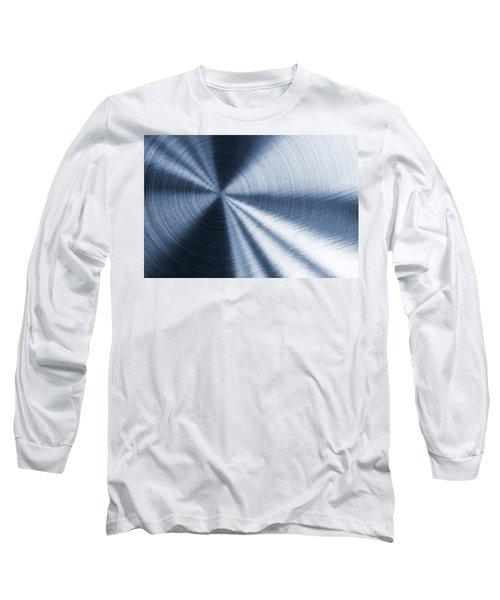 Cold Blue Metallic Texture Long Sleeve T-Shirt