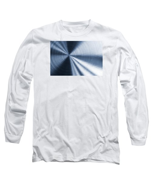 Cold Blue Metallic Texture Long Sleeve T-Shirt