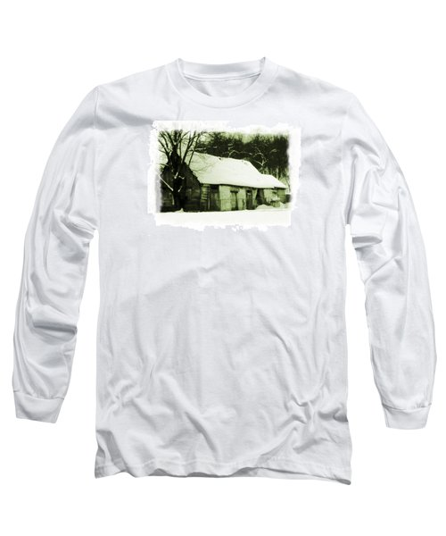 Long Sleeve T-Shirt featuring the photograph Countryside Winter Scene by Nina Ficur Feenan