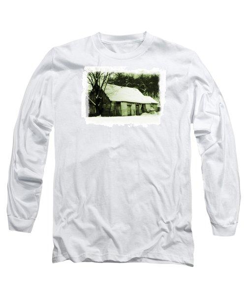 Countryside Winter Scene Long Sleeve T-Shirt