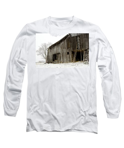 Cold Winter At The Barn  Long Sleeve T-Shirt by Wilma  Birdwell