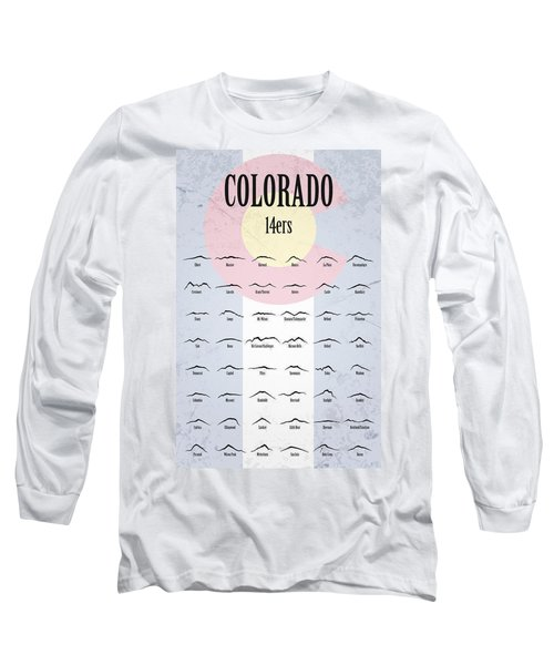 Long Sleeve T-Shirt featuring the photograph Colorado 14ers Poster by Aaron Spong