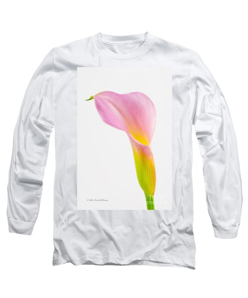 Colorful Calla Lily Flower Long Sleeve T-Shirt