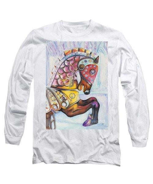 Colorful Carousel Horse  Long Sleeve T-Shirt