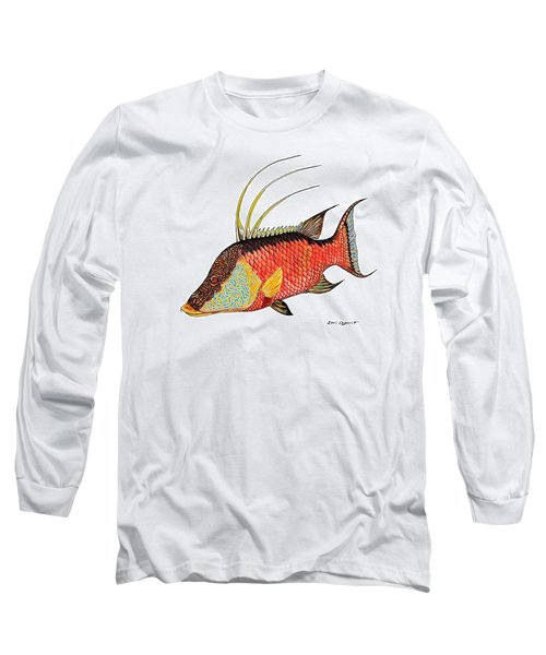 Colorful Hogfish Long Sleeve T-Shirt by Steve Ozment