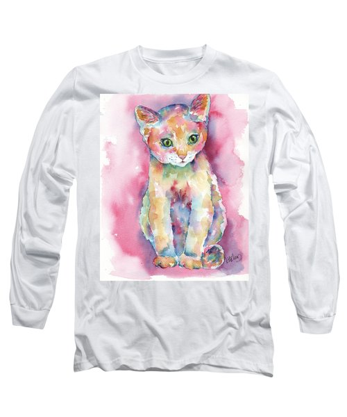 Colorful Kitten Long Sleeve T-Shirt