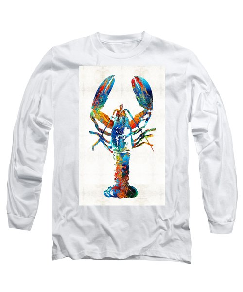 Colorful Lobster Art By Sharon Cummings Long Sleeve T-Shirt
