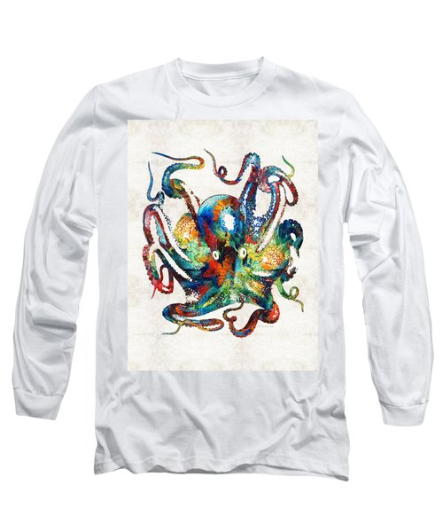 Colorful Octopus Art By Sharon Cummings Long Sleeve T-Shirt