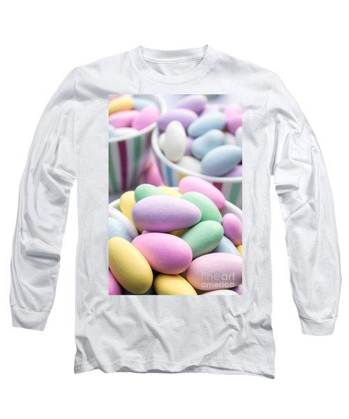 Colorful Pastel Jordan Almond Candy Long Sleeve T-Shirt