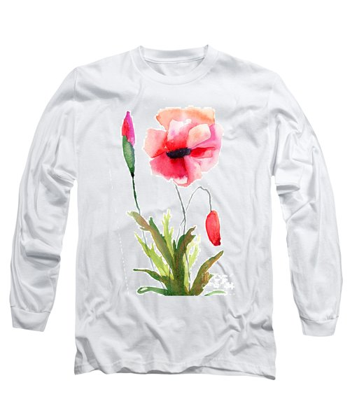 Colorful Poppy Flowers Long Sleeve T-Shirt