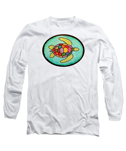 Colorful Sea Turtle Long Sleeve T-Shirt by Jim Harris