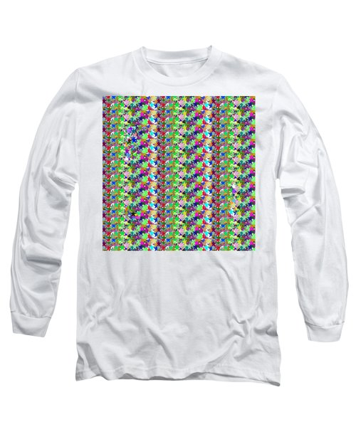 Long Sleeve T-Shirt featuring the photograph Colorful Star Graphics Decorations by Navin Joshi