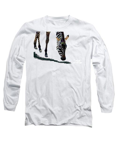 Colorful Zebra 2 Long Sleeve T-Shirt by Teresa Zieba