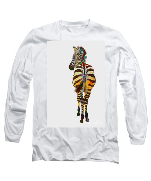 Colorful Zebra Long Sleeve T-Shirt