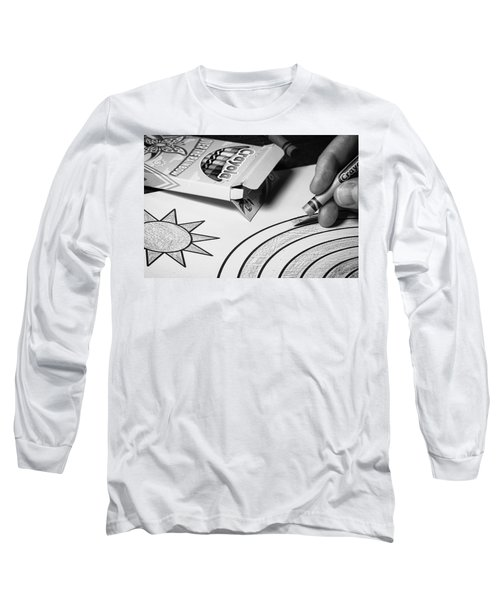 Coloring Without Color Long Sleeve T-Shirt by Tom Gort