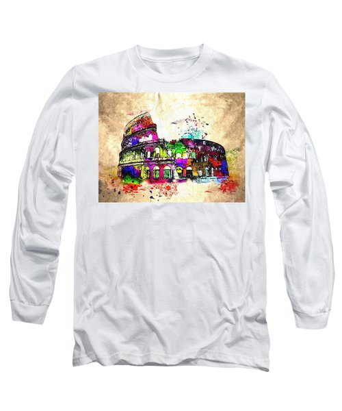 Colosseo Grunge  Long Sleeve T-Shirt