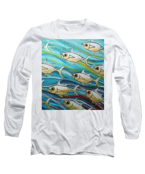 Coloured Water Fish Long Sleeve T-Shirt