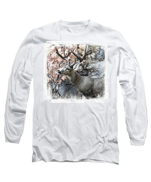 Nature Long Sleeve T-Shirt featuring the photograph Columbia Blacktail Deer by Aaron Berg