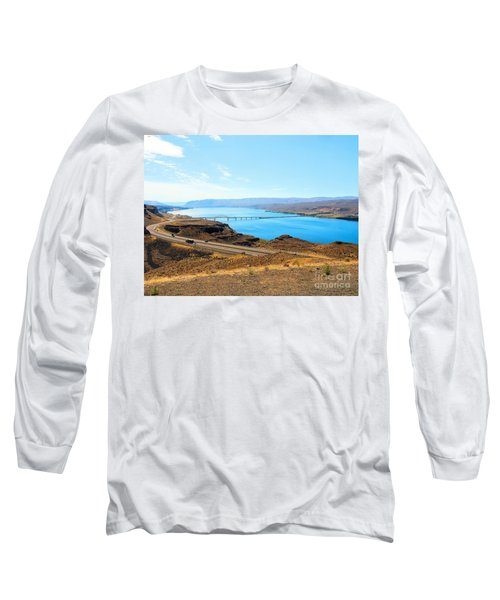 Columbia River From Overlook Long Sleeve T-Shirt