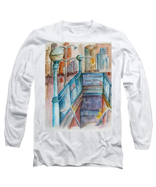 Columbus Circle Subway Stop Long Sleeve T-Shirt
