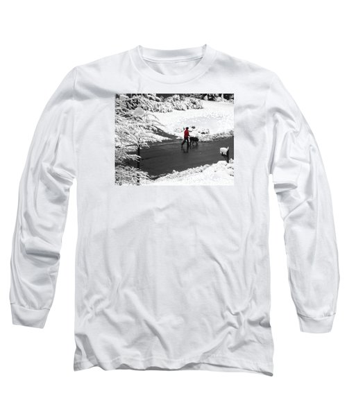 Companions Walking On Christmas Morning Long Sleeve T-Shirt