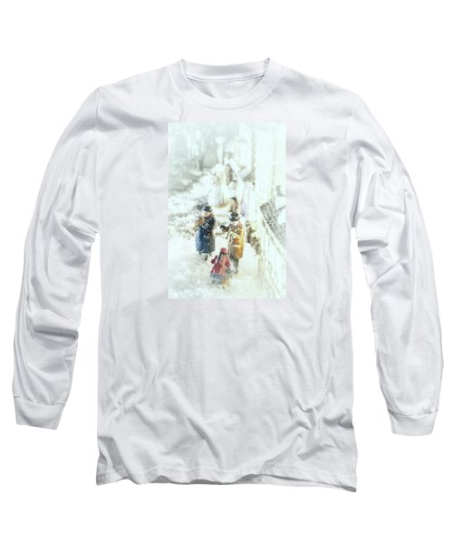 Long Sleeve T-Shirt featuring the photograph Concert In The Snow by Caitlyn  Grasso