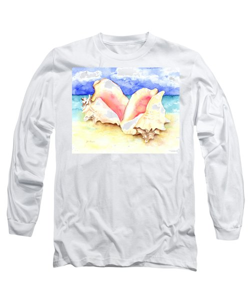 Conch Shells On Beach Long Sleeve T-Shirt