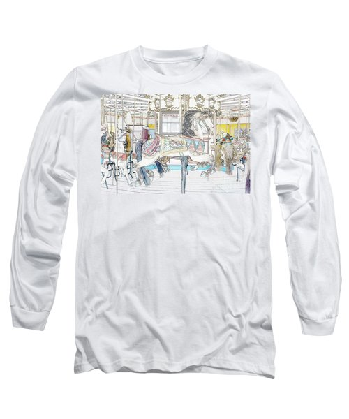 Coney Island Carousel Long Sleeve T-Shirt