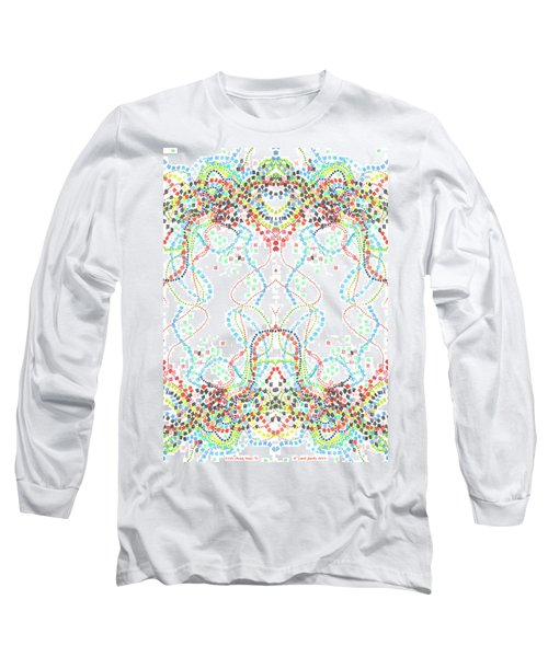 Long Sleeve T-Shirt featuring the drawing Confetti Rorschach by Carol Jacobs
