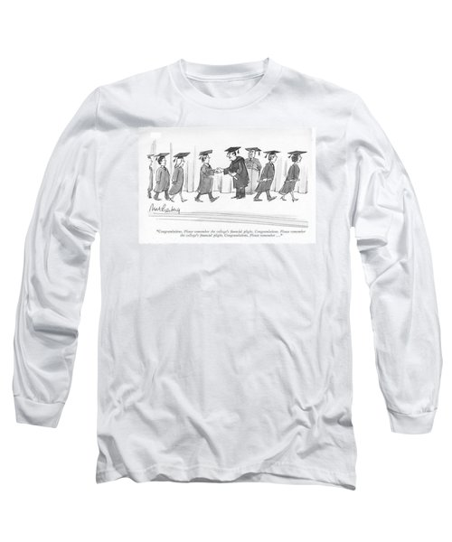 Congratulations. Please Remember The College's Long Sleeve T-Shirt