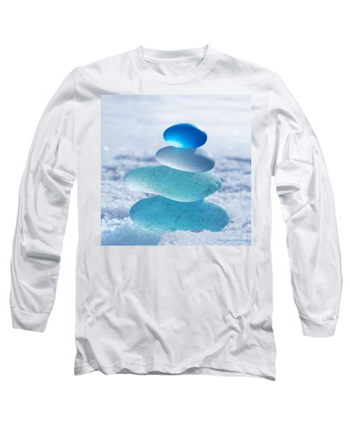 Cool Blues Long Sleeve T-Shirt by Barbara McMahon