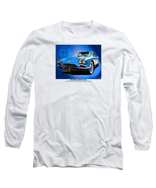 Cool Corvette Long Sleeve T-Shirt by Kenneth De Tore