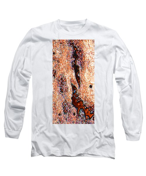 Long Sleeve T-Shirt featuring the digital art Copper Lakes by Stephanie Grant