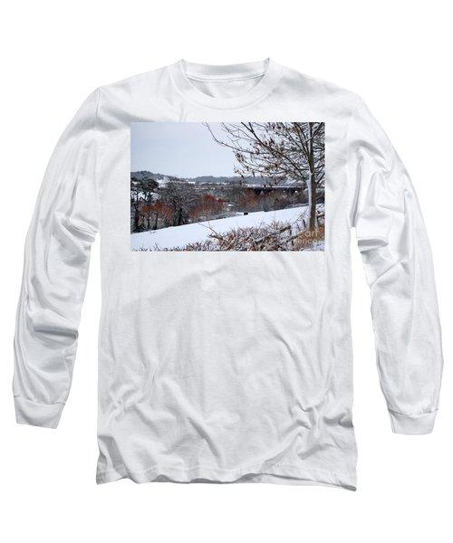 Copper Tones Long Sleeve T-Shirt by Linda Prewer