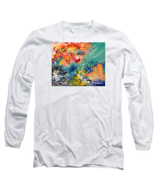 Long Sleeve T-Shirt featuring the painting Coral Madness by Lyn Olsen