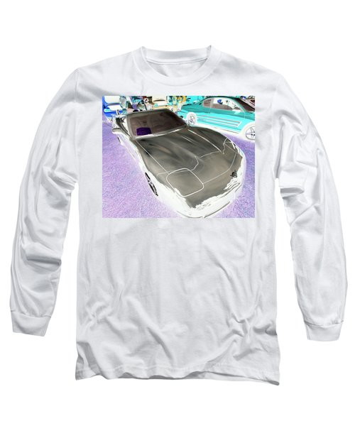 Long Sleeve T-Shirt featuring the photograph Corvette 2003 50th Anniv. Edition by John Schneider