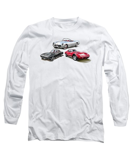 Long Sleeve T-Shirt featuring the digital art Corvette Generation by Thomas J Herring