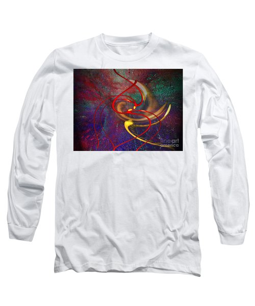 Cosmic Kiss Long Sleeve T-Shirt by Cedric Hampton