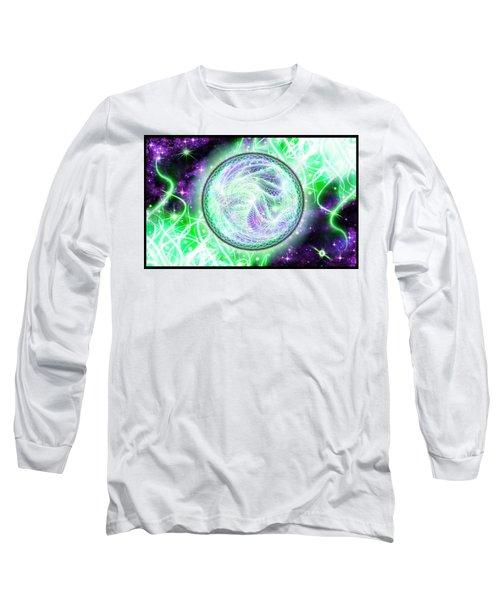Long Sleeve T-Shirt featuring the digital art Cosmic Lifestream by Shawn Dall