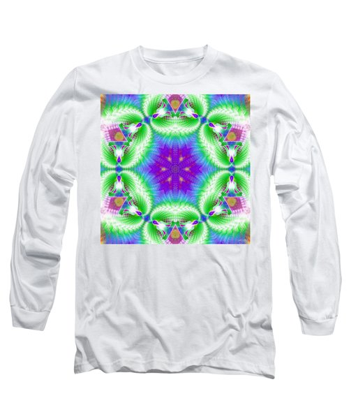 Cosmic Spiral Kaleidoscope 10 Long Sleeve T-Shirt