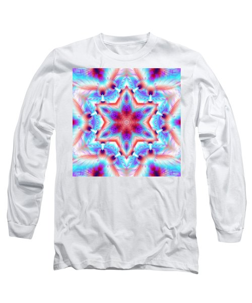 Cosmic Spiral Kaleidoscope 45 Long Sleeve T-Shirt