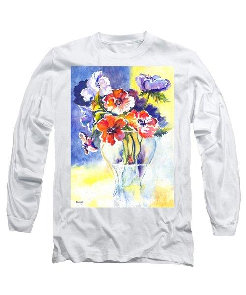 Long Sleeve T-Shirt featuring the painting Cosmos I by Carol Wisniewski