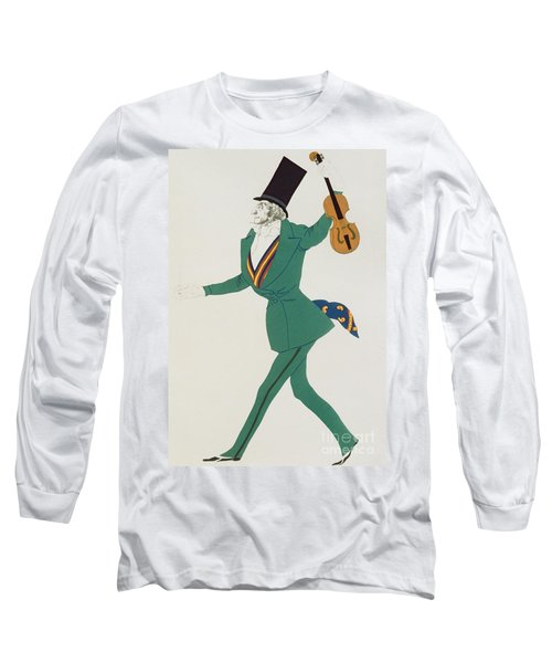 Costume Design For Paganini In The Enchanted Night Long Sleeve T-Shirt