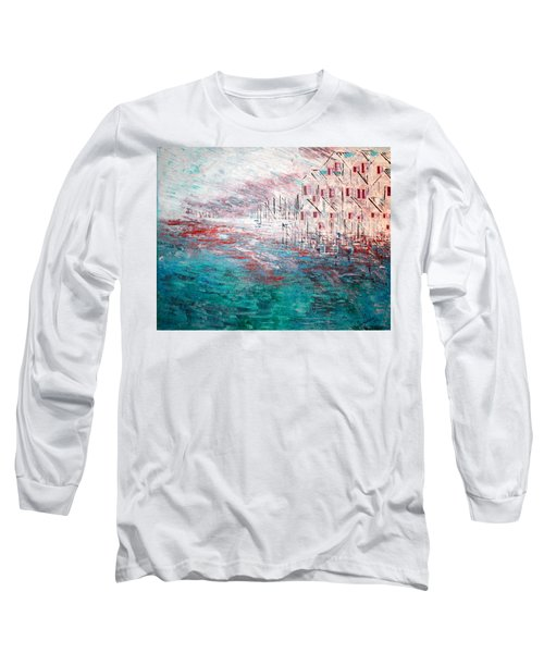 Cottages On The Bay  Long Sleeve T-Shirt by George Riney