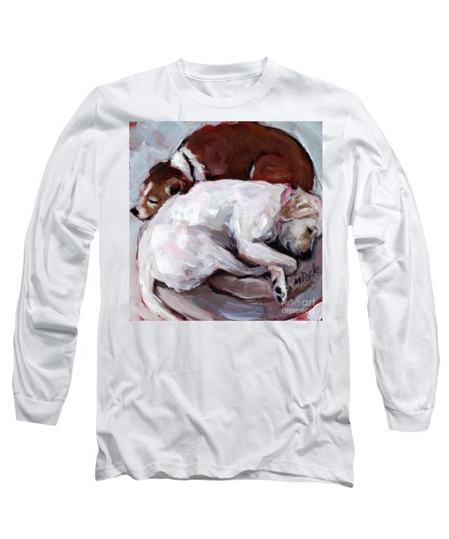 Long Sleeve T-Shirt featuring the painting Cottonball by Molly Poole