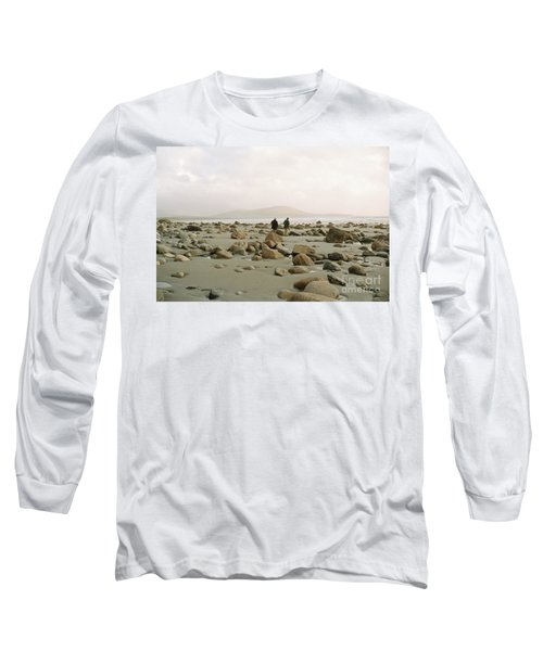 Long Sleeve T-Shirt featuring the photograph Couple And The Rocks by Rebecca Harman